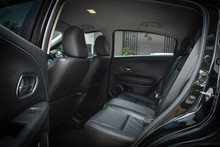 Black Leather Of Back Seat Int...