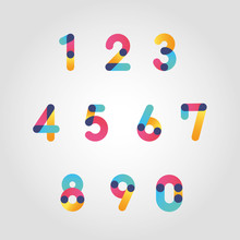 Vector Colorful Numbers Set, F...