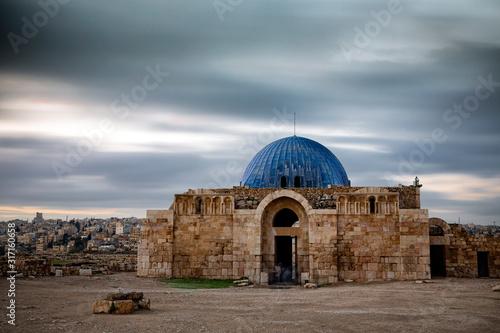 Photo Amman Citadel landmark from Amman city in Jordan