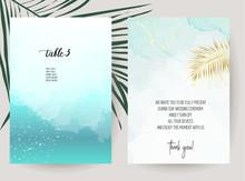 Tropical Elegant Wedding Invit...