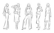 女性のファッションイ...