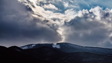 Dramatic Cloud Over A Mountain...