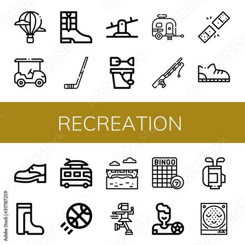 Photo Set of recreation icons
