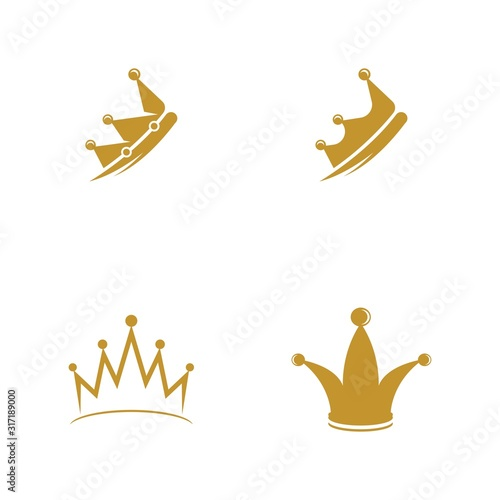 Crown Logo Template vector icon Tableau sur Toile