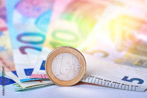 Photo Euro currency closeup