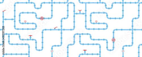 Cuadros en Lienzo Horizontal industrial seamless pattern
