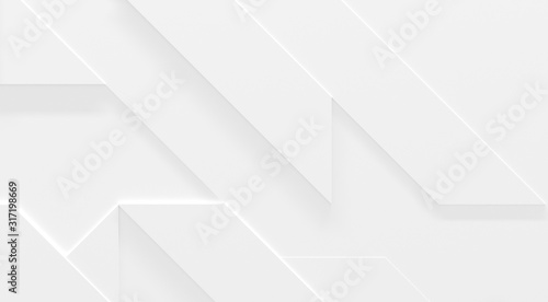 Photo White Business Style Background (3D Illustration)