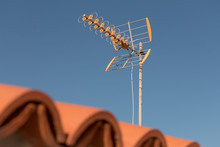 Television Antenna On A Roofto...