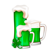 St Patrick's Day Green Beers W...