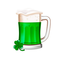 St Patrick's Day Concept Green...