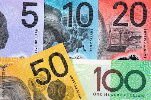 Money from Australia a business background Fototapet