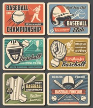Baseball Sport Fun Clubs And E...