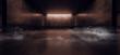 canvas print picture - Dark neon Laser Smoke Fog Orange Glowing Fluorescent Garage Underground Parking Car Showcase Empty Background Concrete Reflective Grunge 3D Rendering