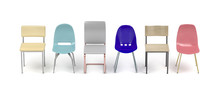 Row With Different Chairs