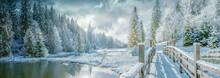 Vita Lake In Winter, Carpathia...
