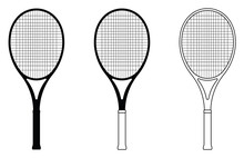 Tennis Racquets. Thin Line And...