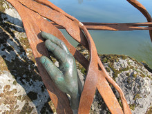 Hand Bronze Statue Inside The ...