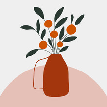 Illustration With Orange Tree ...