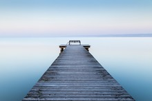 Wooden Dock Near The Sea With ...