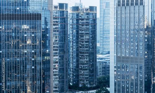 obraz PCV modern glass building