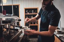 Barista Preparing Cappuccino O...