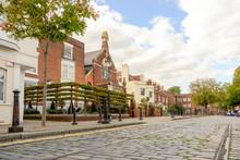 Street With Cobblestones In Hi...