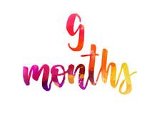 9 Months Watercolor Lettering