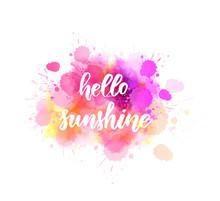 Hello Sunshine Lettering On Wa...