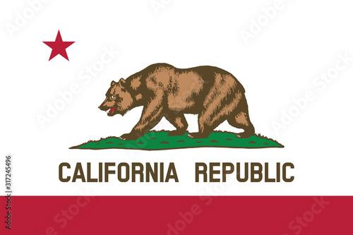 Stampa su Tela Vector of beautiful California Republic state flag..