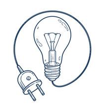 Light Bulb Idea With Electric ...