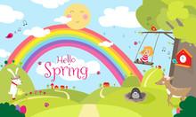 Hello Spring - Frühlingsgrafi...
