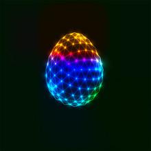3D Polygonal Easter Egg. Vector Illustration