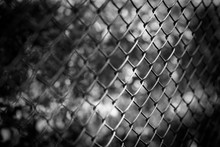 Close Up Chain Fence Black Met...