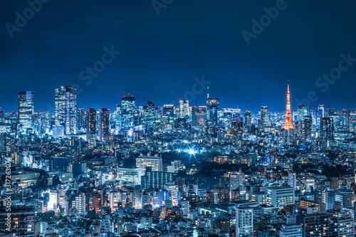Carta da parati 光が溢れる東京の夜景