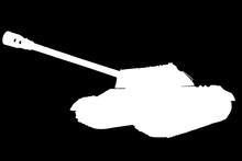 Tank Isolated On Black Backgro...