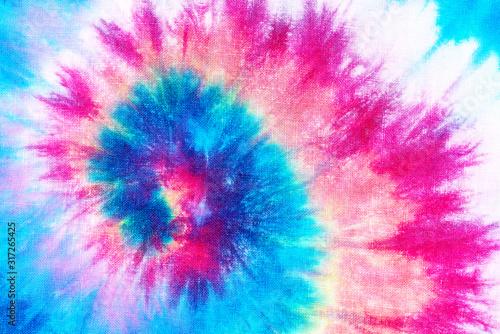 Photo spiral tie dye pattern abstract background