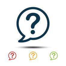 Set Question Mark Icon Vector Template. Colorful Help Desk Icon Logo.