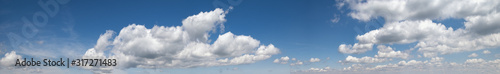 Blue sky background with clouds Wallpaper Mural