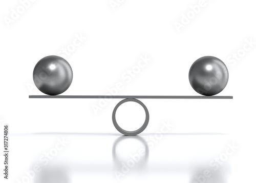 Balancing balls cradle Canvas Print