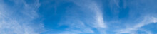 Blue Sky Panorama Background With Clouds