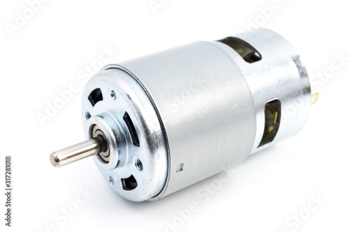 Photo DC motor on white background