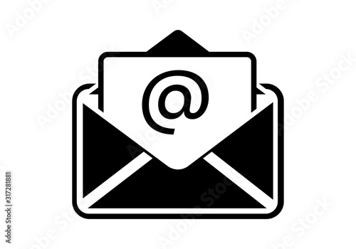 Photo phone email fax icon in an isolated vector shape with a white background