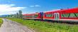 Regionalbahn, Zug am Bodensee bei Birnau