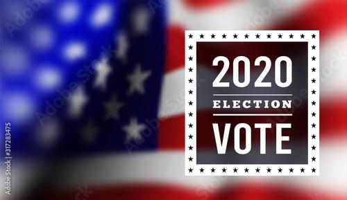 Fotografie, Tablou  USA presidental election 2020. illustration with american flag