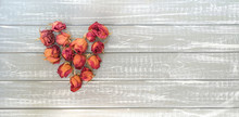 Dried Red-yellow Flowers And B...