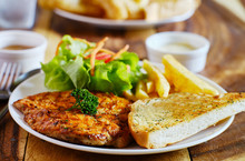 Grilled Chicken Filet With Fre...