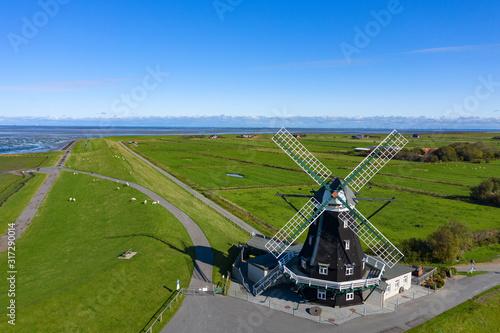 Valokuvatapetti Die Windmühle von Pellworm/Deutschland