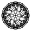 canvas print picture - Mandala decorative round ornament. Can be used for greeting card, phone case print, etc. Hand drawn background