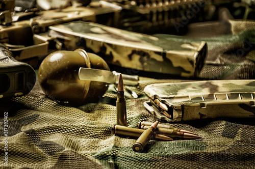 Fotografie, Tablou  The concept of military ammunition