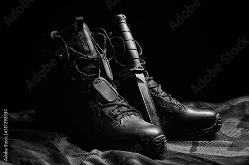 Fotomural Military boots